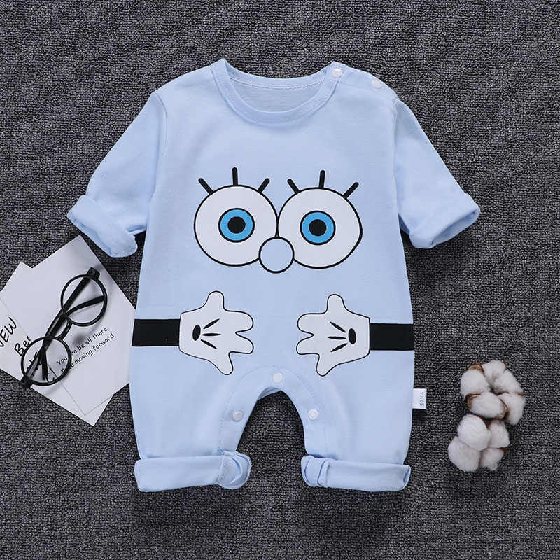 df12829c70264 ... Autumn baby clothes Newborn baby boy girl Cartoon Cotton Long Sleeve  Baby Rompers Soft Infant Clothing ...