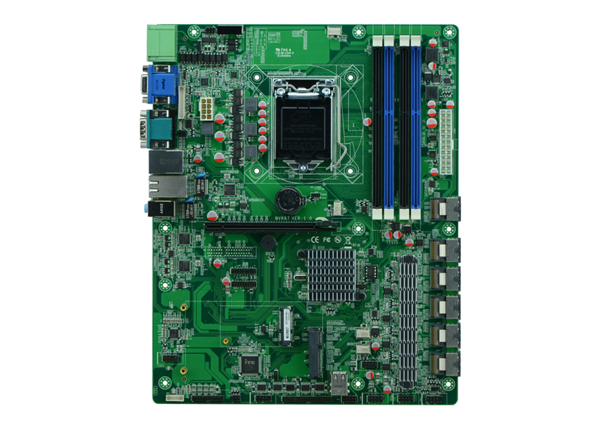 H87 LGA1150 socket cartes mères/NVR carte mère support industriel 14 usb 26 sata interface de disque dur