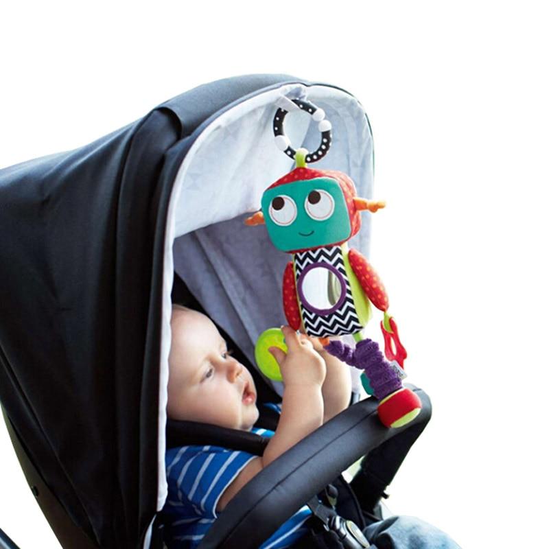 26 cm-es baba puha plüss tevékenység játékok Robot Stílusú Baby Rattle Zenei vigasztalójátékos Baby Toy Rattles Gyermek babák