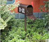 Continental Iron Mailbox Retro Villa Outdoor Rain Customization American Newspaper Boxes Genuine Milk Garden Mailbox Rain Proof
