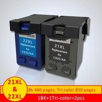 Сменный чернильный картридж Xiangyu 21 22XL для hp 21 22 картридж для Deskjet 3915 3920 D1320 F2100 F2280 F4180
