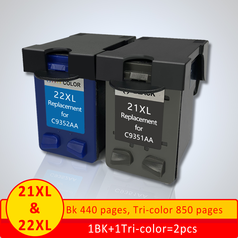 Xiangyu 21 22XL Refilled Ink Cartridge Replacement for hp 21 22 cartridge for Deskjet 3915 3920