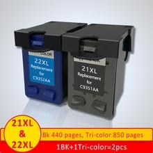 Xiangyu 21 22XL пополнен картридж Замена для hp 21 22 картридж для Deskjet 3915 3920 D1320 F2100 F2280 F4180