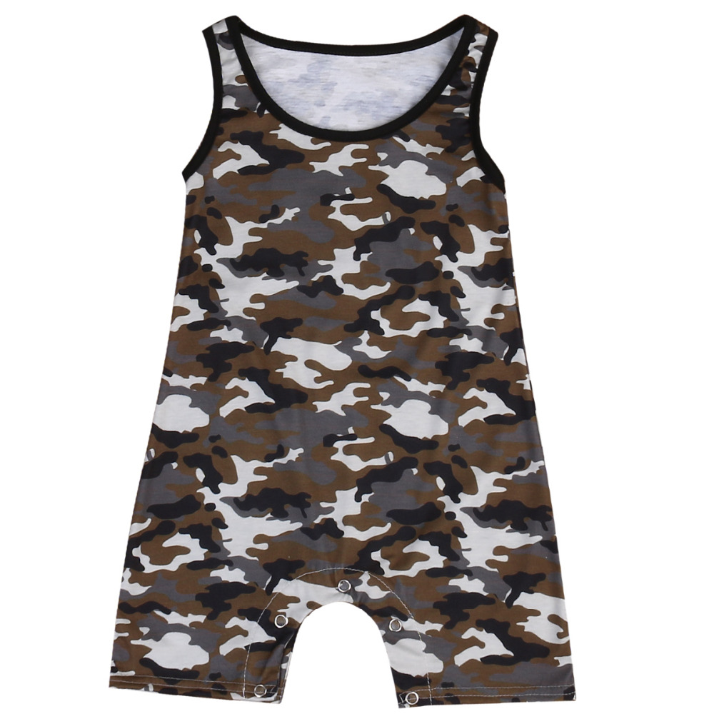 2017 Super Hot Camouflage Baby Boy Newborn Toddler Infant Kids Romper Jumpsuit One-piece Clothes Sleeveless Outfit 0-3Year newborn infant baby girl clothes strap lace floral romper jumpsuit outfit summer cotton backless one pieces outfit baby onesie