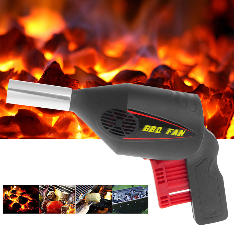 Useful BBQ Fan Air Blower Barbecue Tools Pressing Fire Bellows Portable Fan
