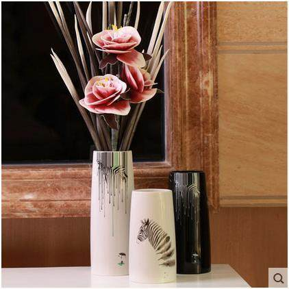 Online Shop White Ceramic Zebra Creative Concise Abstract Flower