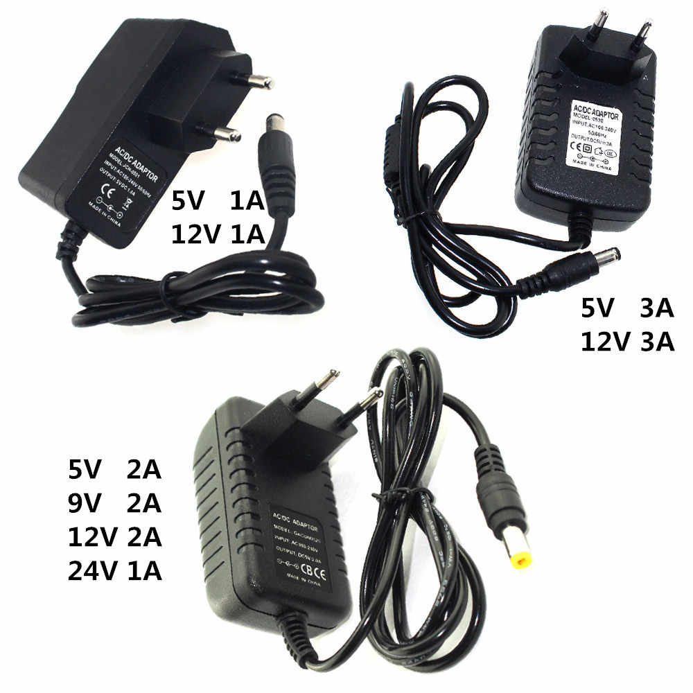 Power Adapter DC 5V 9V 12V 24V 1A 2A 3A Adaptor 220V To 5 V 12 V Volt Charger Supply Universal Switching EU US Plug 220V To 12V