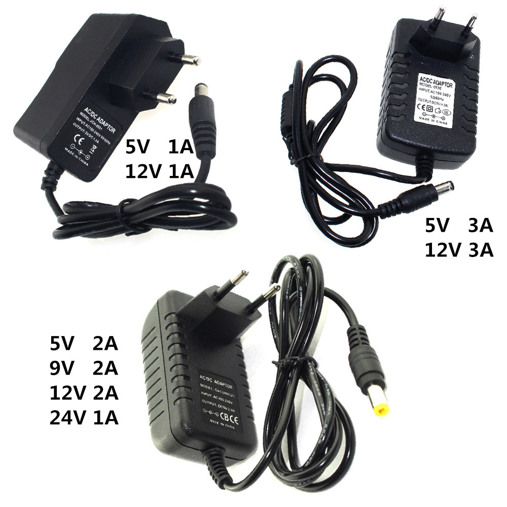 Power <font><b>Adapter</b></font> DC 5V 9V <font><b>12V</b></font> 24V 1A 2A <font><b>3A</b></font> Adaptor 220V To 5 V 12 V Volt Charger Supply Universal Switching EU US Plug 220V To <font><b>12V</b></font> image