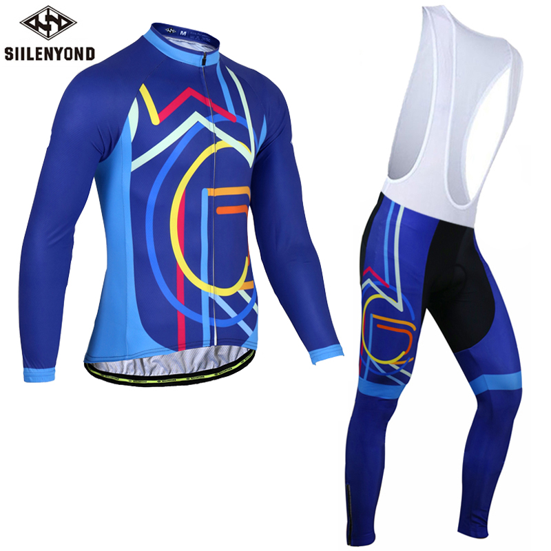 Siilenyond 2017 Cycling Jersey Set Winter Long Sleeve Bike Thermal Fleece Maillot Ropa Ciclismo Invierno MTB Bicycle Clothing malciklo winter fleece thermal cycling jersey set long sleeve bicycle bike clothing pantalones ropa ciclismo invierno wears