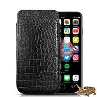 Классической тянуть Тип натуральной крокодиловой кожи живота кожаный мешок телефон чехол сумка чехол для Apple IPhone х Оригинальный кожаный Че