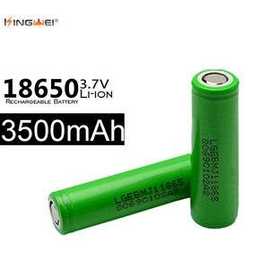 10 pces 100% original 18650 3500 mah 3.7v 10a bateria de energia para lg mj1 baterias de lítio recarregáveis