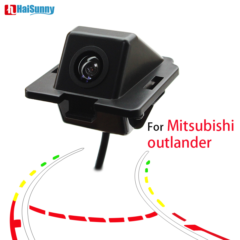 HaiSunny Backup Rear view Camera For Mitsubishi Outlander 2007 - 2009 2015 Dynamic Line Rear Camera Wide-view Parking Assistance