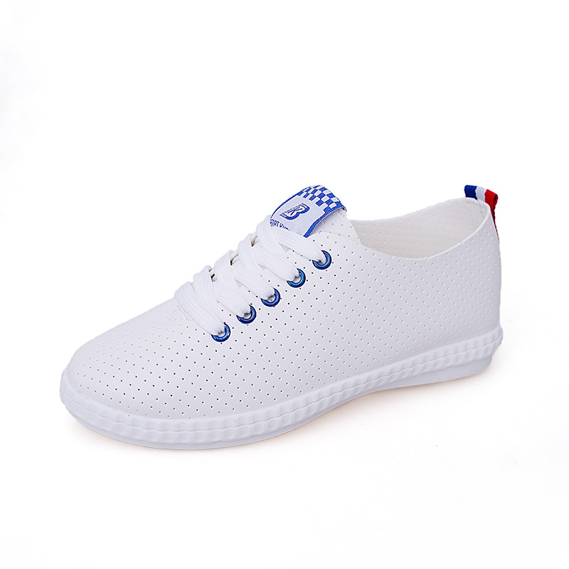 Little White shoes woman double march female student board shoes spring new style lace leisure sports Walking shoes flat ladies