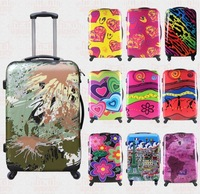 Graffiti Luggage suitcase trolley Rolling Luggage Boarding Box Suitcases Travel Bag Trunk