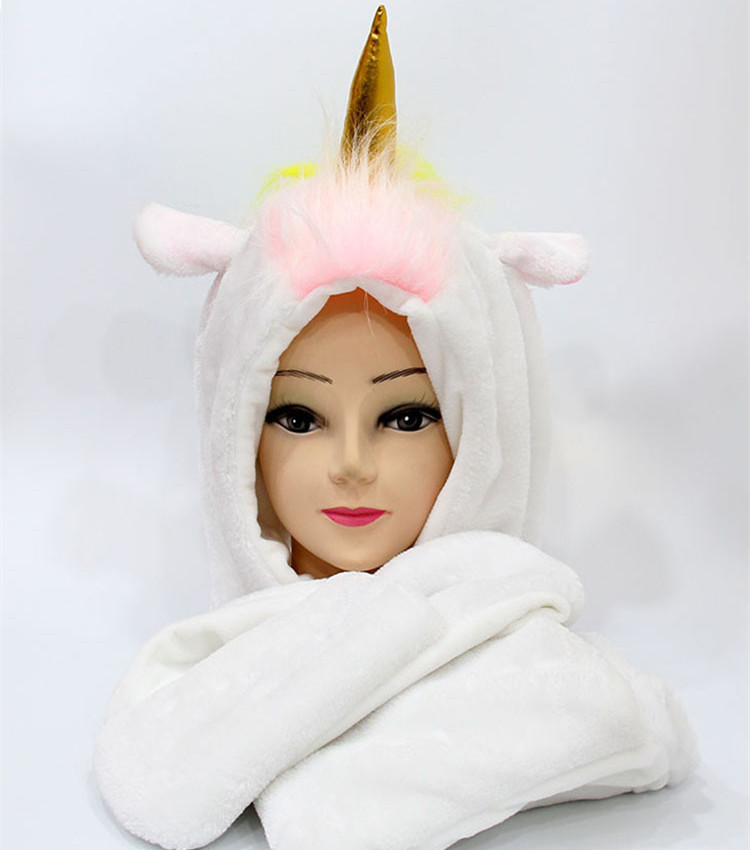 SELLWORLDER Girls' Cute Hat 30cm*22cm Unicorn Baby Winter Warm Scarf & Hat & Glove Set