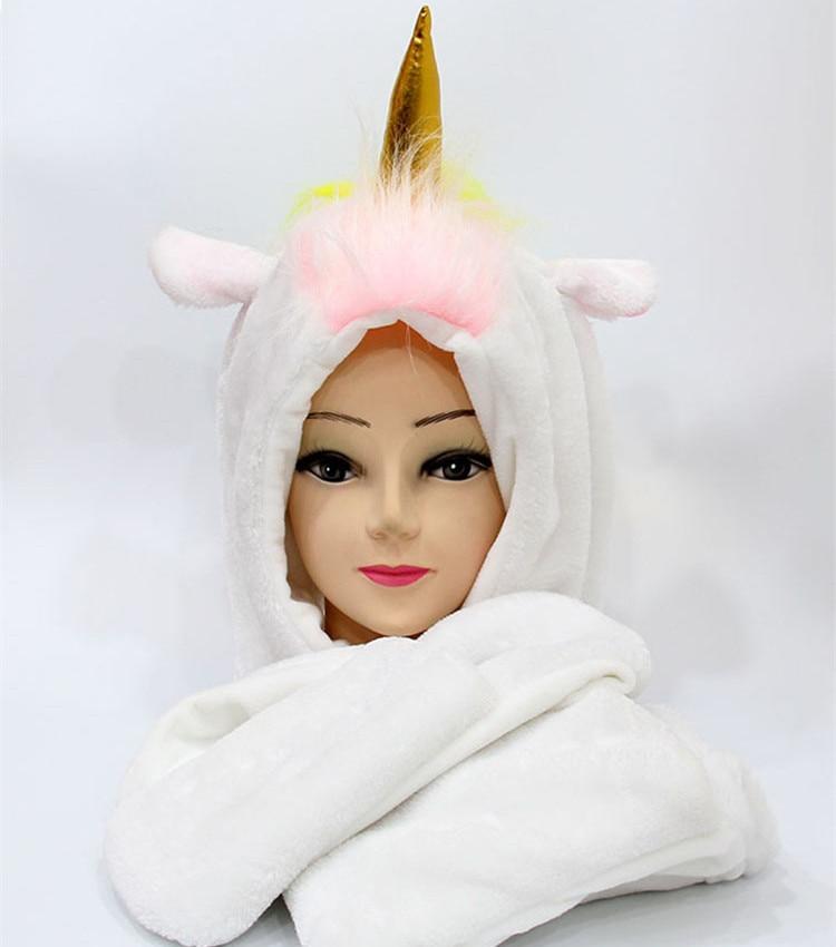 SELLWORLDER Girls' Cute Hat 30cm*22cm Unicorn Baby Winter Warm Scarf & Hat & Glove Set