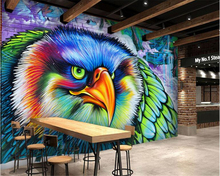 beibehang wallpaper papel de parede hudas beauty Personality beautiful colorful hand-drawn owl graffiti background wall