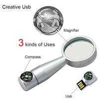 Mini Kreative Lupe USB-Stick 64GB Metall USB-Stick USB Stick Speicher 32G Stift Drive16G USB Flash U Festplatte Flash-