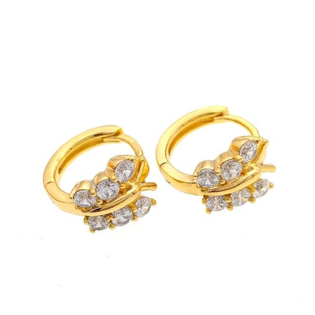 Erfly Baby Gold Hoop Earrings Cristal Earring Oorbellen For Women Boucle Oreille Brinco Argola Ohrringe