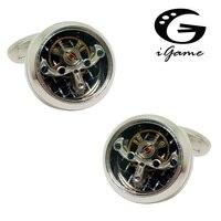 Erkek Mücevherat Fonksiyonel Kol Düğmeleri Moda Izle Hareketi Tasarım Gümüş Renk Staineless Çelik Kol Düğmeleri Toptan ve perakende
