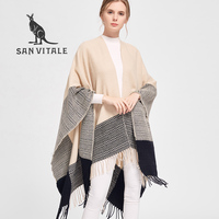 Women Scarves Shawls Winter Warm Scarf Luxury Brand Soft Fashion Thicken Plaids Pareo Wraps Blankets Wool