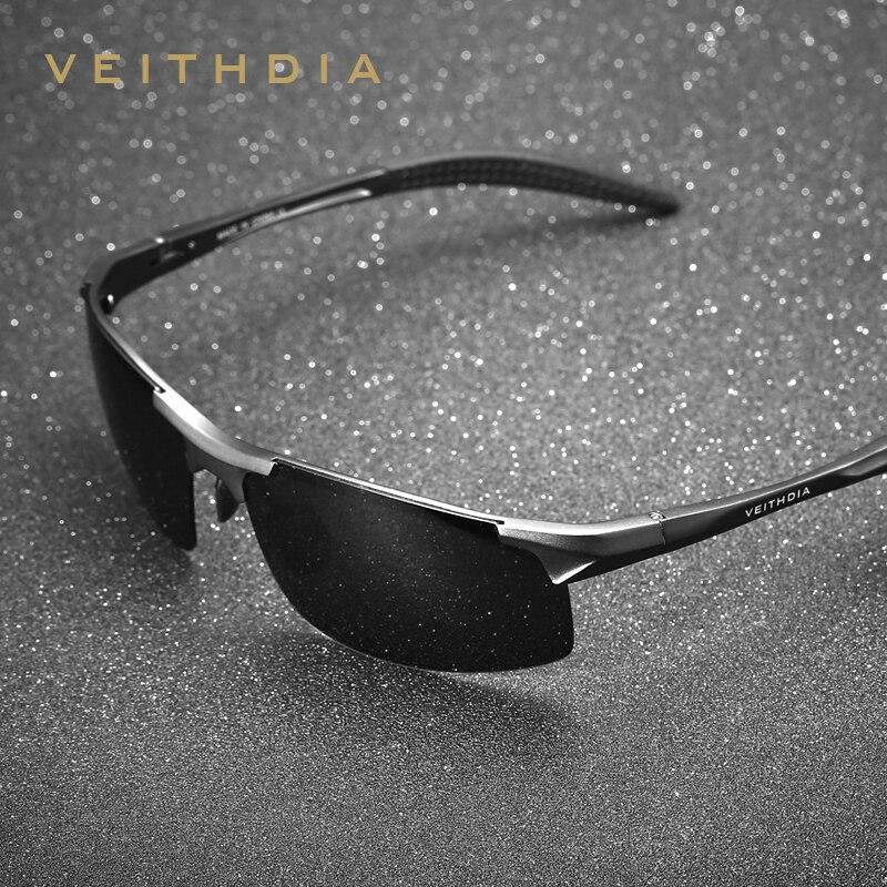 VEITHDIA de marca de diseñador de aluminio para hombre gafas de sol polarizadas gafas accesorios para hombres, gafas de sol masculino 6518