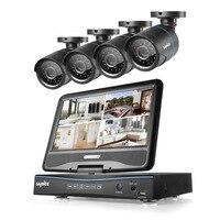 2016 New SANNCE Home Security HD 1080N 8CH DVR 4PCS 1 0MP 720P AHD CCTV Camera
