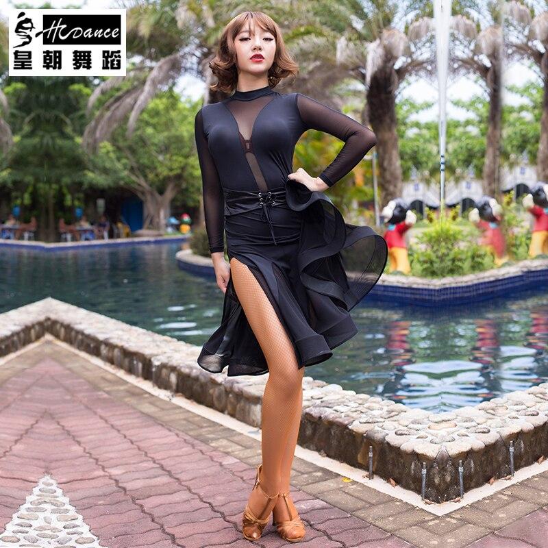 New Fashion Sexy long-sleeve Latin Dance dress for women/female, Ballroom tango Cha Cha Rumba Costumes A3058