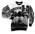 Brooklyn con capucha Biggie Smalls hombres sudadera gráfico impreso Biggie Smalls Brooklyn en nueva York fresco sudaderas de cuello redondo