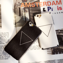 Cyato Cute Plain Triangle Cases for iPhone 6 6s 7 8 plus X XS Soft TPU Full Cover Case with Lanyard Neck Strap x capa