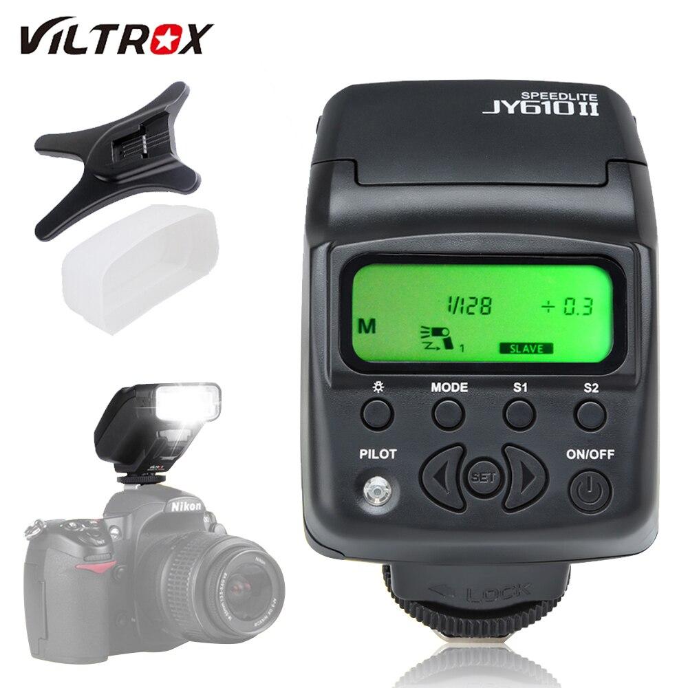 Universal Auf-kamera Mini-Speedlite Viltrox JY-610 II JY610II Taschenlampe Für Nikon D3300 D5300 D7100 für Canon 5D mark DSLR