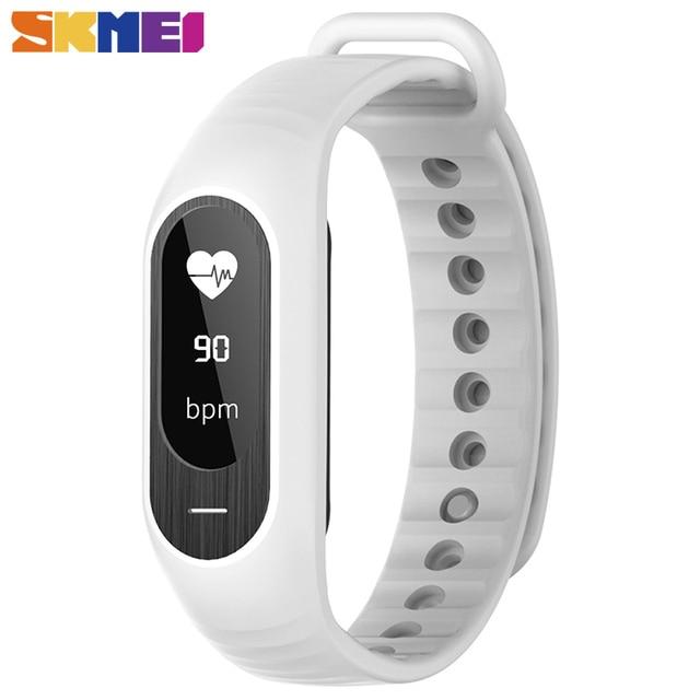 Skmei Man Women Fashion Smart Wristwatches Blood Pressure Watches Heart Rate Monitor Fitness Men's Watch LED Alarm Clock B15P