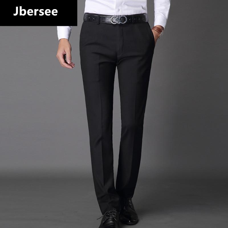Jbersee heren pak broek mode jurk broek formele zakelijke man casual lange broek slim fit heren trouwjurk heren pak