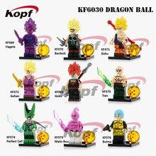 KF6030 Single Sale Building Blocks Dragon Ball Z Figures Goku Vegeta Perfect Cell Majin Buu Gohan