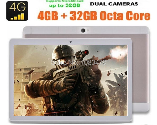 2017 Новый 10 дюймов 3 Г 4 Г LTE tablet pc FDD Окта core 1920*1200 IPS HD 8.0MP 4 ГБ 32 ГБ Android 6.0 Bluetooth GPS + Подарки