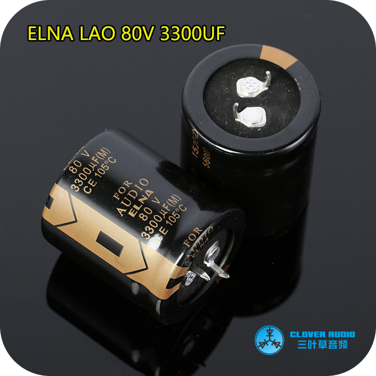 2pcs/10pcs ELNA LAO Series 80v/3300uf 30*35mm Super Capacitor Audio Electrolytic Capacitor Power Capacitor Free Shipping