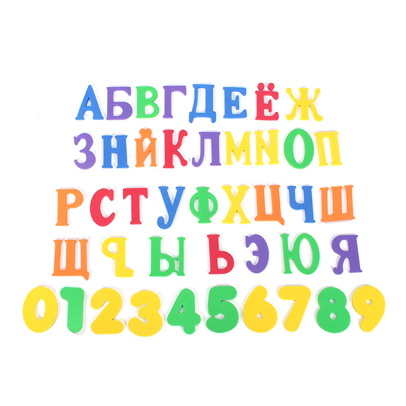 33pcs Russian alphabet Bath Puzzle Soft EVA Numbers Kids font b Baby b font Toy Early