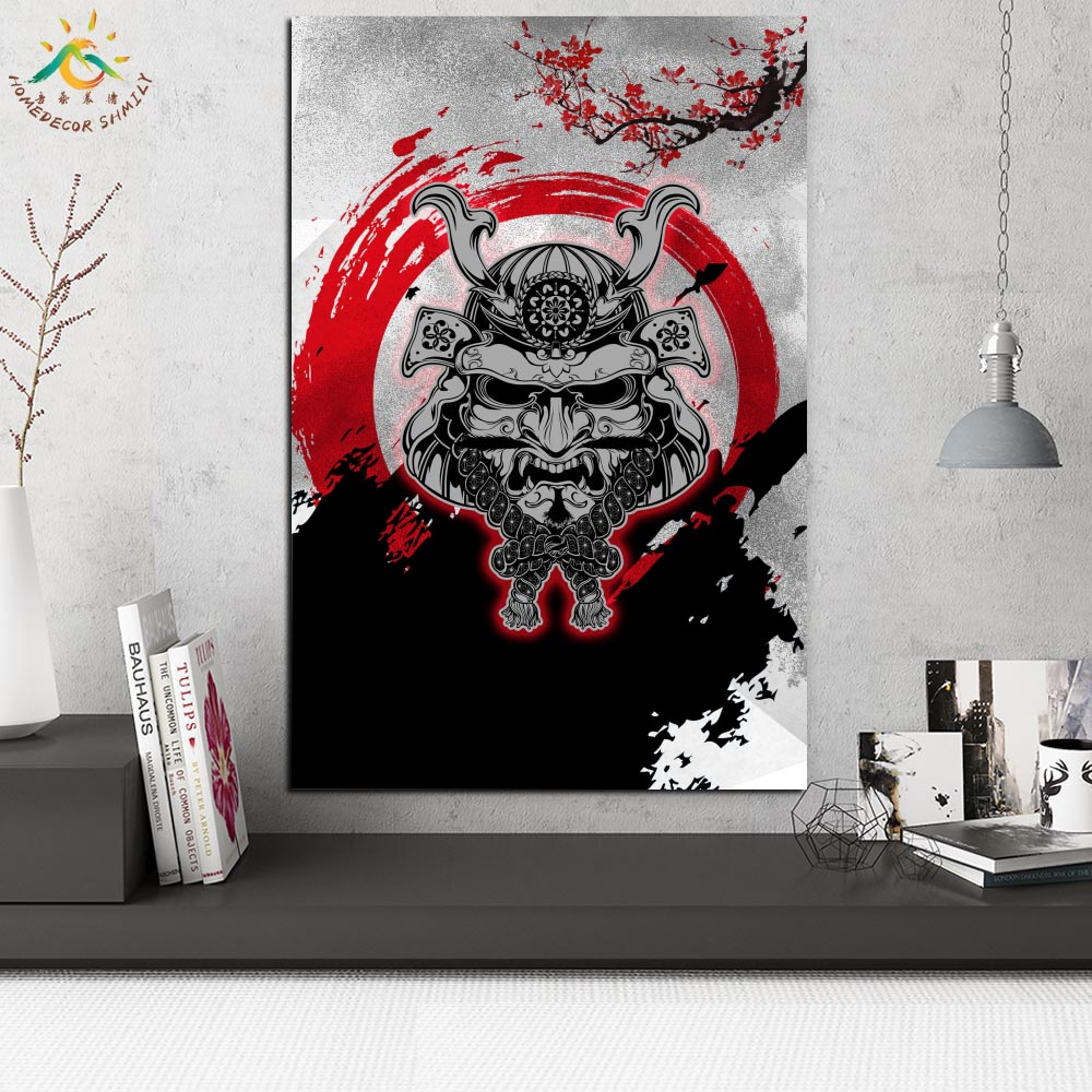 Japan Samurai Clip Art Modern Wall Art Print Pop Art Posters and Prints Scroll Canvas Painting Wall Pictures for Living Room in Painting Calligraphy from Home Garden