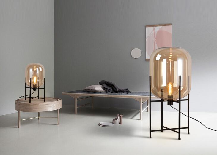 Woonkamer Staande Lamp : Eenvoudige creatieve persoonlijkheid glazen tafel lampen voor hotel