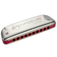 10 Holes Tremolo Harmonica Mouth Organ Instrumentos Harmonica Tremolo Key C Musical Instruments Germany Hohner Golden