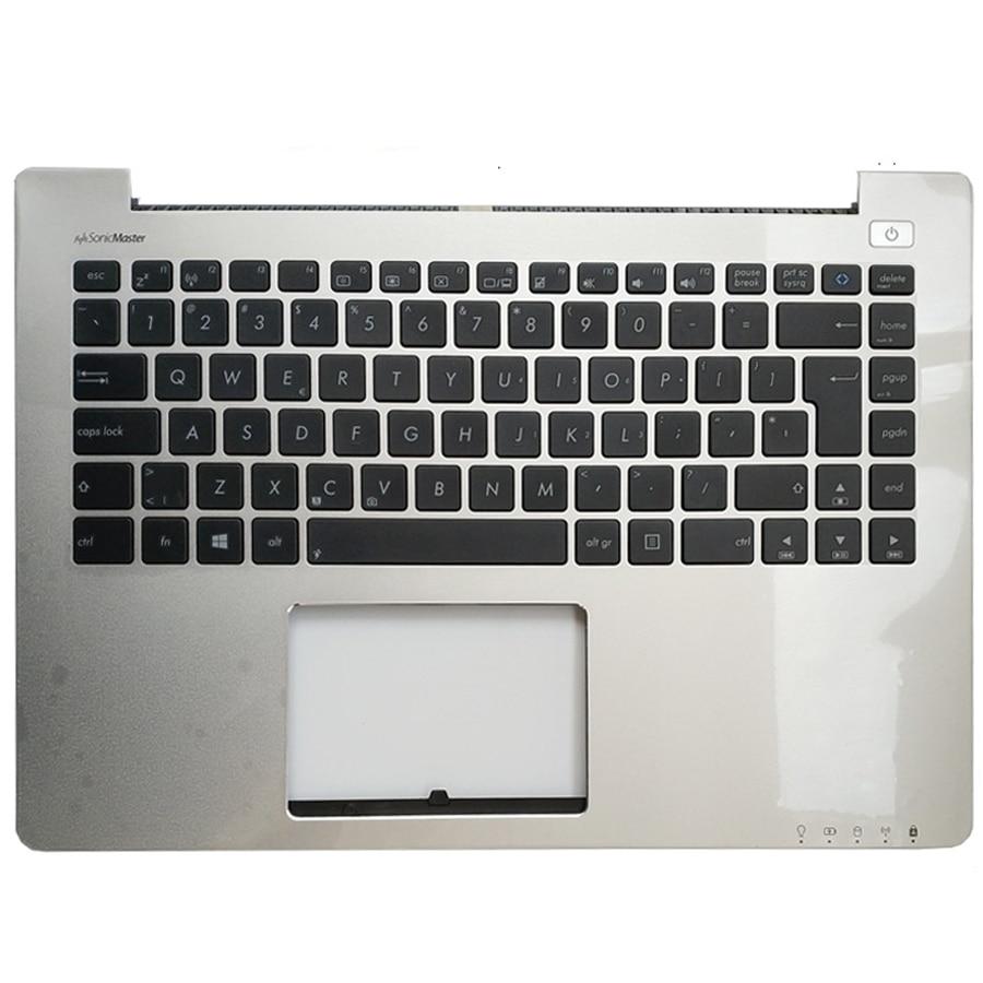 New EU Standard Keyboard Palmrest  For ASUS VivoBook S400C S400CA Genuine Top Case With Keyboard For ASUS S400C Big Engter Key