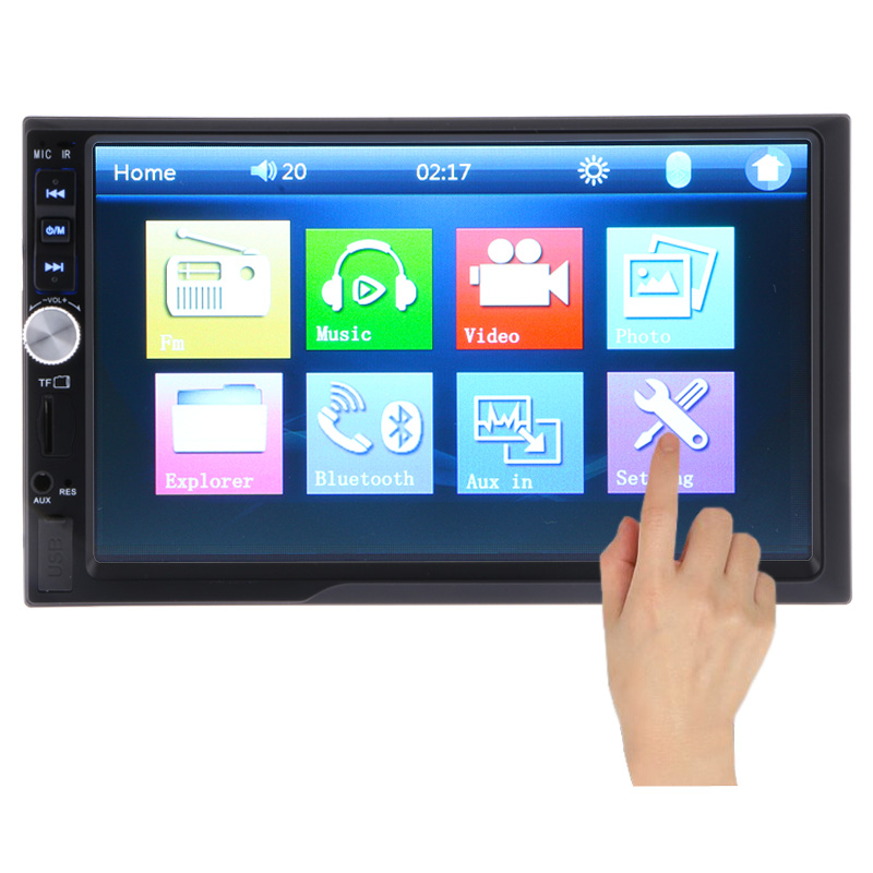 NEW 2 Din Car Video Player 7 HD Touch Screen Bluetooth Stereo Radio FM MP3 MP4