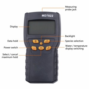 Image 5 - MD7822 Digitale Graan Vochtmeter Voedsel Thermometer Vochtigheid Hygrometer Analyzer water Damp Detector Tester