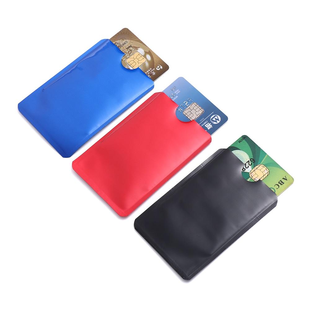 10 Teile/paket Anti-diebstahl Reader Sperren Bank Id Fall Anti Rfid Sperrung Karte Halter Smart Sicherheit Schutz Metall Kredit Karte Halter