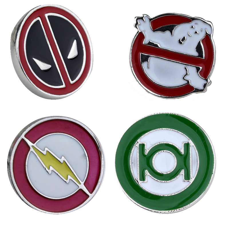 Speed sell tong film surrounding death shi ghost death squads flash green lantern brooch cartoon badge