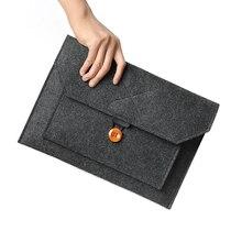 Fashion Wool Felt Laptop Sleeve Bag Notebook Handbag Case For Macbook Air Pro Re