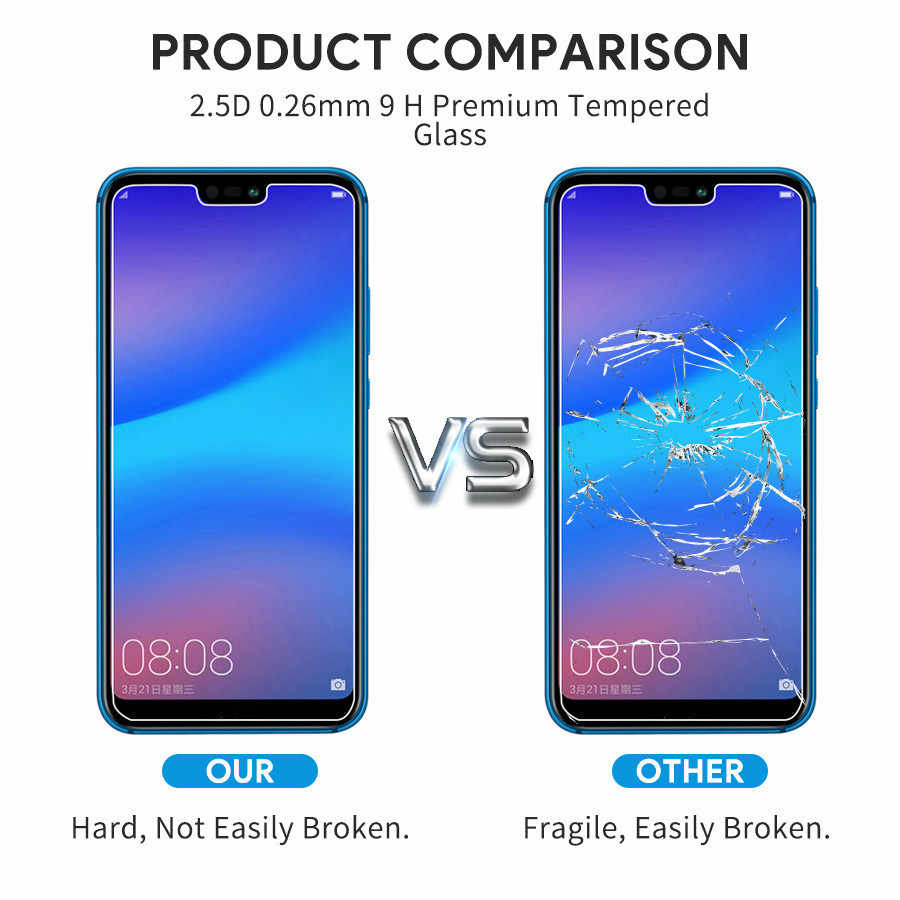 2.5D HD Tempered Glass For Huawei P30 P10 P20 Lite Screen Protector For Huawei P9 P8 2017 2016 2015 Transparent Protective Glass