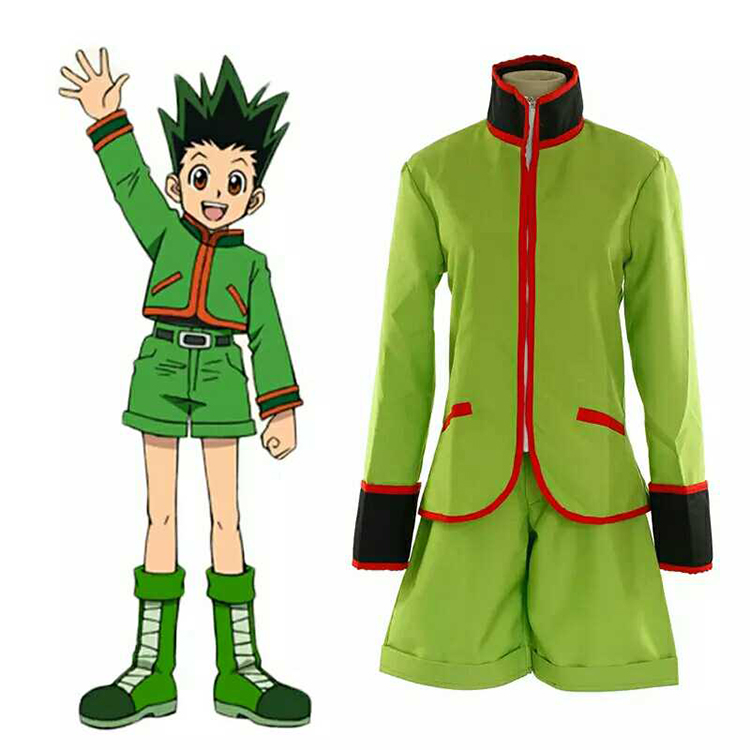 Hunter X Hunter Gon Freecss Cosplay Costumes with covers full set for Party Customized CM253