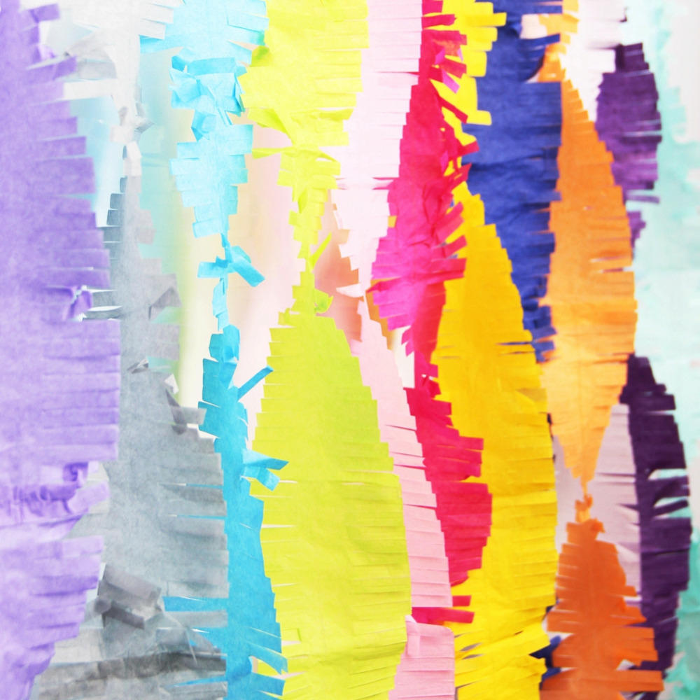 Diy painted shower curtain - 3m Fringed Party Streamers Tissue Paper Fringe Garland Diy Fringe Curtain Banner Photo Backdrop Wedding Birthday Showers Decor