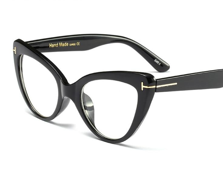 Fashion Women Cat Eye Myopia Glasses Brand Design Vintage Cat Eye Shortsighted Eyeglasses Prescription Black -0.50 To -6.00